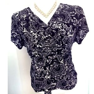Paisley Blouse by Charter Club / Black and White